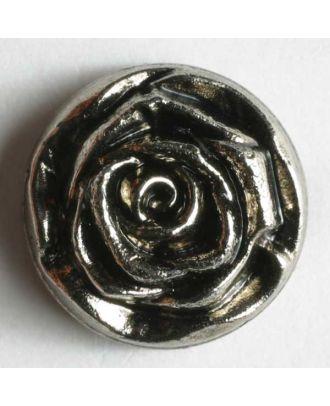 Metallized plastic button - Size: 14mm - Color: antique silver - Art.No. 190022