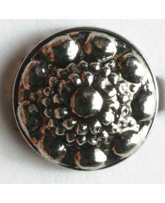 Metallized plastic button - Size: 11mm - Color: antique silver - Art.No. 180297