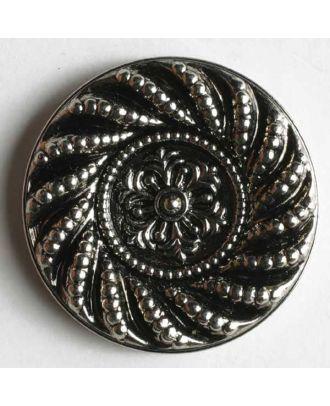 Metallized plastic button - Size: 14mm - Color: antique silver - Art.No. 200494