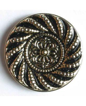 Metallized plastic button - Size: 23mm - Color: antique gold - Art.No. 260230