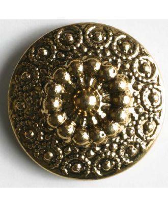 Metallized plastic button - Size: 23mm - Color: antique gold - Art.No. 260228