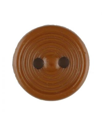 polyamide button with 2 holes - Size: 13mm - Color: brown - Art.No. 217703