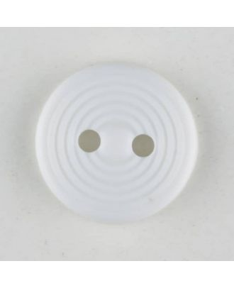 polyamide button with 2 holes - Size: 13mm - Color: white - Art.No. 211724