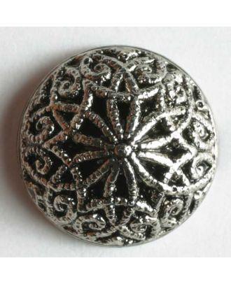 Metallized plastic button - Size: 14mm - Color: antique silver - Art.No. 200530