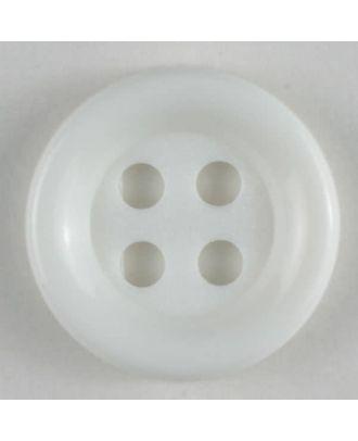 Fashion button - Size: 13mm - Color: white - Art.No. 170400