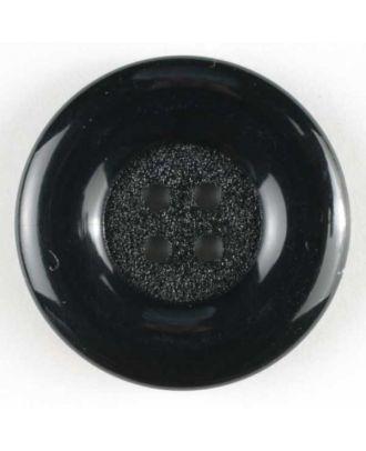 Fashion button - Size: 50mm - Color: black - Art.No. 380078