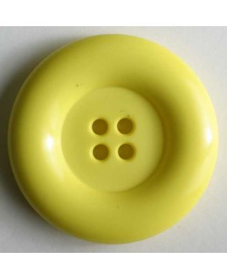 Fashion button - Size: 50mm - Color: yellow - Art.No. 380083
