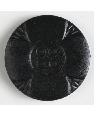 polyamide button with holes - Size: 28mm - Color: black - Art.No. 341074