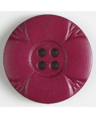 polyamide button with holes - Size: 23mm - Color: lilac - Art.No. 318636