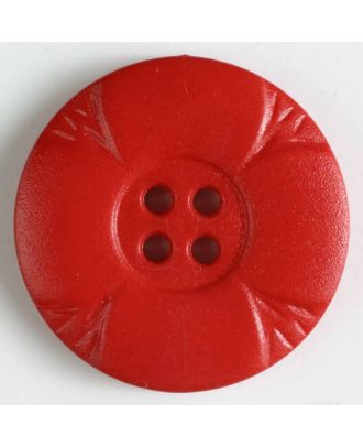 polyamide button with holes - Size: 28mm - Color: red - Art.No. 341076