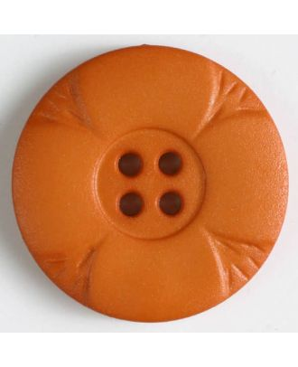 polyamide button with holes - Size: 28mm - Color: orange - Art.No. 348640