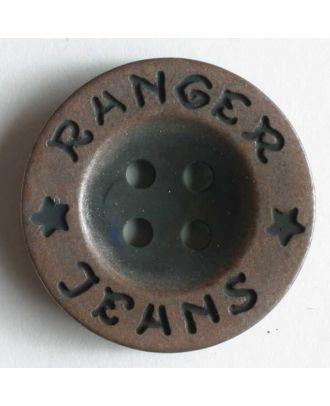 Metallized plastic button - Size: 20mm - Color: copper - Art.No. 220085