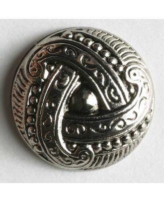 Metallized plastic button - Size: 11mm - Color: antique silver - Art.No. 180331