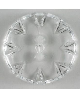 Fashion button - Size: 18mm - Color: transparent - Art.No. 190195