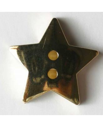 Metallized plastic button - Size: 20mm - Color: gold - Art.No. 270320