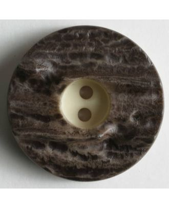 stag horn imitation - Size: 23mm - Color: brown - Art.No. 230509