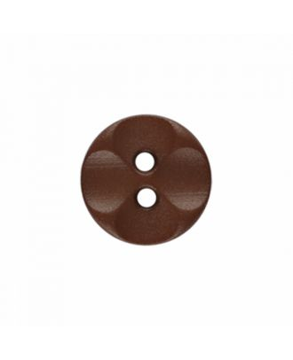 polyamide button round shape with 2 holes - Size: 13mm - Color: brown - Art.-Nr.: 226804
