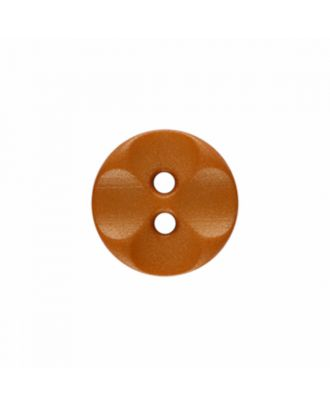 polyamide button round shape with 2 holes - Size: 13mm - Color: brown - Art.-Nr.: 226806