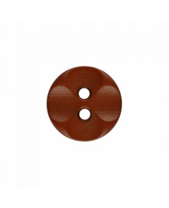 polyamide button round shape with 2 holes - Size: 13mm - Color: brown - Art.-Nr.: 226807