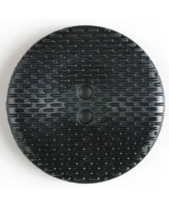 Fashion Button - Size: 38mm - Color: black - Art.No. 350047
