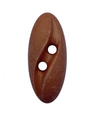 "polyamide button oval-shaped ""Vintage Look"" with 2 holes - Size: 20mm - Color: braun - Art.No.: 318802"