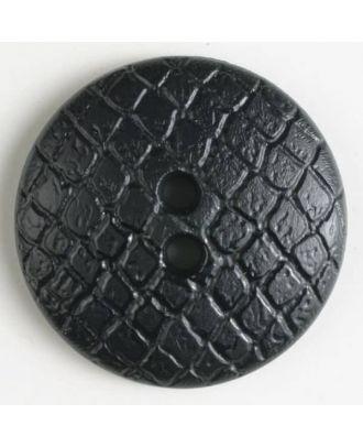 polyamide button - Size: 28mm - Color: black - Art.No. 341027
