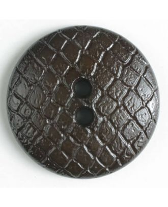 polyamide button - Size: 18mm - Color: brown - Art.No. 266613