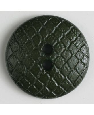 polyamide button - Size: 18mm - Color: green - Art.No. 266615