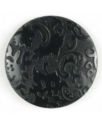 Fashion button - Size: 23mm - Color: black - Art.No. 250575