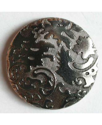 Metallized plastic button - Size: 23mm - Color: antique silver - Art.No. 270296