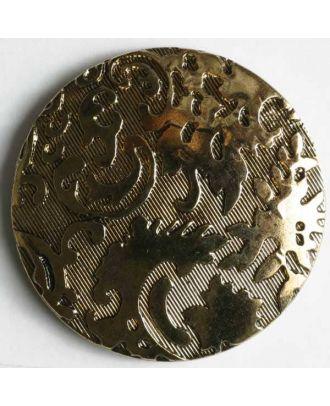 Metallized plastic button - Size: 28mm - Color: antique gold - Art.No. 320108