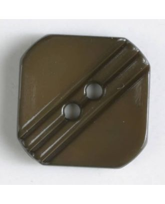 polyamide button with holes - Size: 15mm - Color: brown - Art.No. 228603