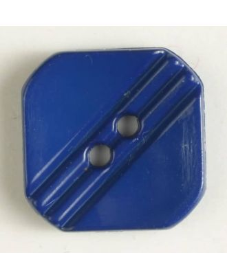 polyamide button with holes - Size: 15mm - Color: blue - Art.No. 228605