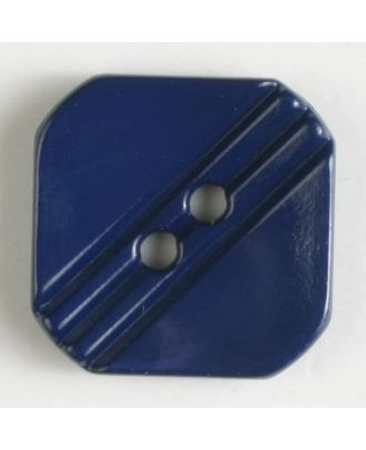 polyamide button with holes - Size: 15mm - Color: blue - Art.No. 228606