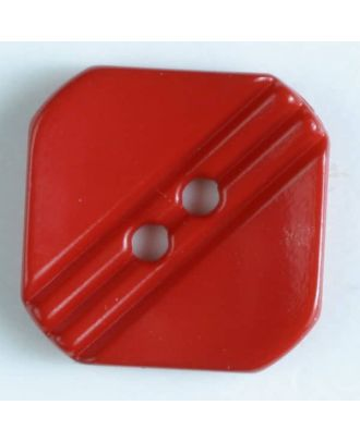 polyamide button with holes - Size: 15mm - Color: red - Art.No. 221836