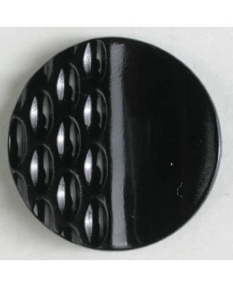 polyamide button with holes - Size: 18mm - Color: black - Art.No. 261215