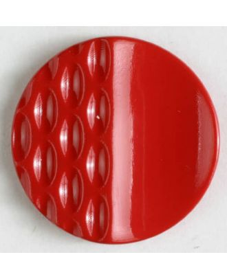 polyamide button with holes - Size: 23mm - Color: red - Art.No. 310807