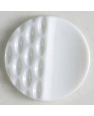 polyamide button with holes - Size: 23mm - Color: white - Art.No. 310804