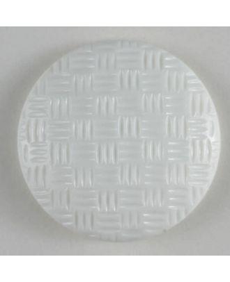 Fashion button - Size: 19mm - Color: white - Art.No. 231280