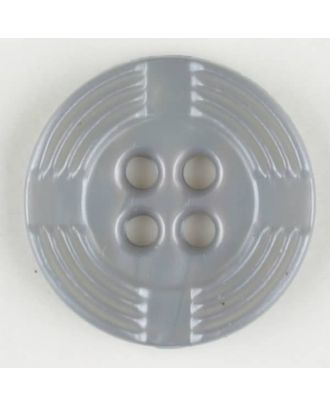 polyamide button, round, 4 holes - Size: 13mm - Color: grey - Art.-Nr.: 214700