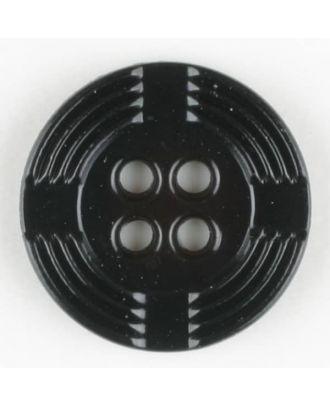 polyamide button, round, 4 holes - Size: 13mm - Color: black - Art.-Nr.: 211679