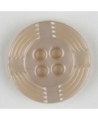 polyamide button, round, 4 holes - Size: 13mm - Color: beige - Art.-Nr.: 214701