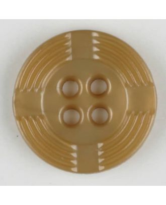 polyamide button, round, 4 holes - Size: 13mm - Color: beige - Art.-Nr.: 214702