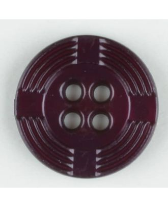 polyamide button, round, 4 holes - Size: 13mm - Color: lilac - Art.-Nr.: 214705