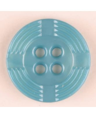 polyamide button, round, 4 holes - Size: 13mm - Color: green - Art.-Nr.: 214707