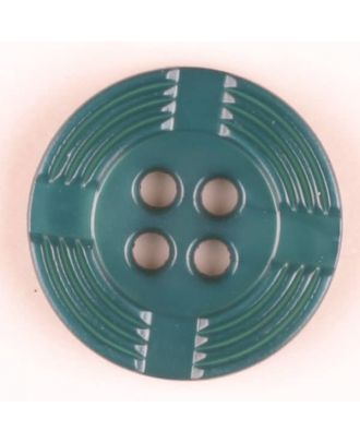 polyamide button, round, 4 holes - Size: 13mm - Color: green - Art.-Nr.: 214709