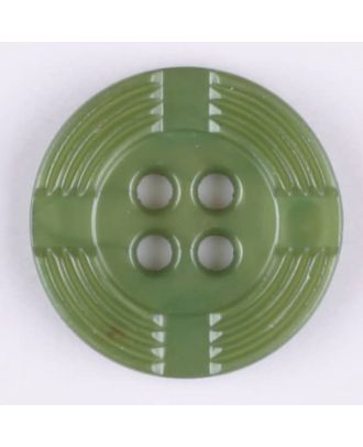 polyamide button, round, 4 holes - Size: 13mm - Color: green - Art.-Nr.: 214710