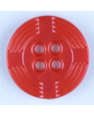 polyamide button, round, 4 holes - Size: 13mm - Color: red - Art.-Nr.: 214712