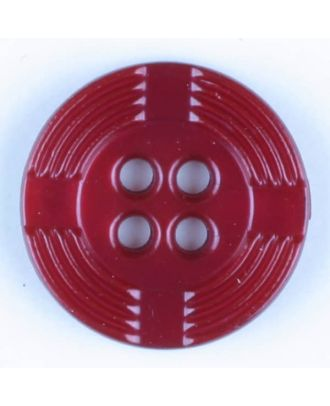 polyamide button, round, 4 holes - Size: 13mm - Color: wine red - Art.-Nr.: 214713