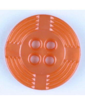 polyamide button, round, 4 holes - Size: 13mm - Color: orange - Art.-Nr.: 214715